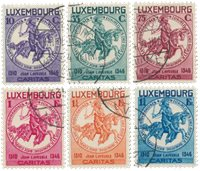 Luxembourg 1934 - MICHEL 259/264 - Stemplet