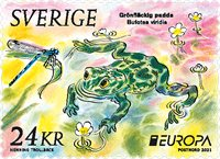 Sweden - EUROPA 2021 Endangered National Wildlife - Mint stamp from coil