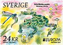 Sverige - EUROPA 2021 Truet nationalt dyreliv - Postfrisk rullefrimærke