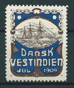 Dansih West Indies - Christmas - 1909 - Unused