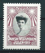 Dansih West Indies - Christmas - 1911 - Mint