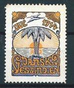 Dansih West Indies - Christmas - 1914 - Unused