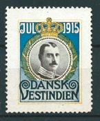 Dansih West Indies - Christmas - 1915 - Unused