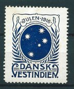 Dansih West Indies - Christmas - 1916 - Unused