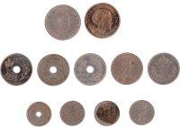 Danmark - 11 forskellige nikkelmønter