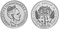 Danmark 1995 - Bryllupsmønt - 200 kr. - Sølv