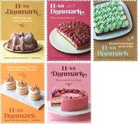 Danmark - Kager - Postfrisk sæt 5v