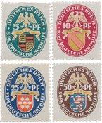 Tyske Rige - 1926 -  Michel 398-401 - Ubrugt