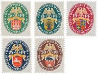 Tyske Rige - 1928 -  Michel 425-29 - Ubrugt