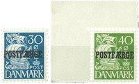 Danmark 1940 - AFA PF24+25 - Postfrisk