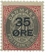 Danmark 1912 - AFA 61 - Ubrugt