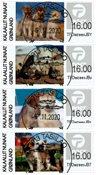 Frankeringsmærker 2020 - Centralt dagstemplet - Sæt