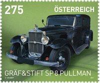 Itävalta - SP8 Pullman veteraaniauto - Postituoreena