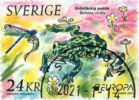 Sweden - EUROPA 2021 Endangered National Wildlife - Cancelled stamp
