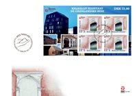 Groenland - Groenland centers - FDC met souvenirvelletje