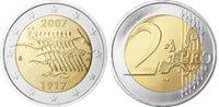Finlandia - Moneta da 2 euro 90^indipendenza della  Finlandia - 2007