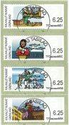 Frankeringsmærker 2009 - Centralt dagstemplet - Sæt