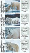 Franking labels 2019 - CPH 2019 - Date cancellation - Collectors strip