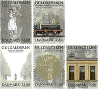 Danmark - Guldalderen - Postfrisk sæt 5v