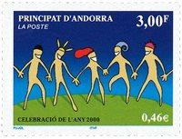 Fransk Andorra - Årtusindeskiftet - Postfrisk frimærke