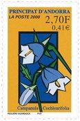 Fransk Andorra - Campanula - Postfrisk frimærke