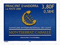 Fransk Andorra - Sangkonkurrence - Postfrisk frimærke