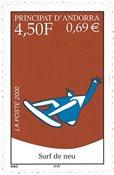 Fransk Andorra - Snowboarding - Postfrisk frimærke