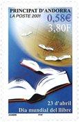 Fransk Andorra - Bogens dag - Postfrisk frimærke