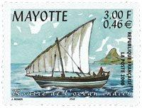 Mayotte - Lokal båd - Postfrisk frimærke