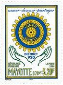 Mayotte - Rotary - Postfrisk frimærke