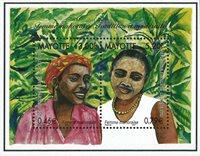 Mayotte - Kvinder - Postfrisk miniark