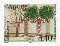Mayotte - Sultanens gravmæle - Postfrisk frimærke