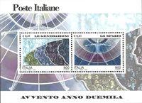Italie - Nouveau millénaire, espace - Bloc-feuillet neuf