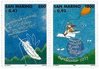 San Marino - International svæveflyvning konkurrence - Postfrisk sæt 2v