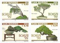 San Marino - Bonsai træer - Postfrisk sæt 4v
