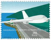 Madeira - Lufthavnen på Madeira - Postfrisk frimærke