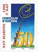 San Marino -  Europarådet - Postfrisk frimærke