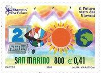 San Marino - Børnetegninger - Postfrisk frimærke