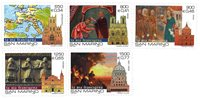 San Marino - Årtusindeskiftet - Postfrisk sæt 5v