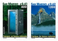 San Marino - EUROPA 2001 - Postfrisk sæt 2v