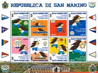 San Marino - Småstaternes sportslege - Postfrisk miniark