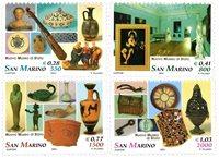 San Marino - Statsmuseum - Postfrisk sæt 4v