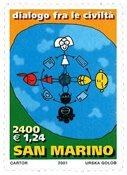San Marino - Kommunikation mellem lande - Postfrisk frimærke