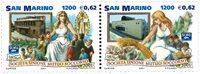 San Marino - 125 år for SUMS - Postfrisk sæt 2v