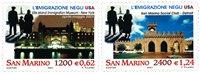 San Marino - Emigration USA - postfrisk sæt 2v
