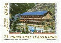 Spansk Andorra - Nationale auditorium - Postfrisk frimærke