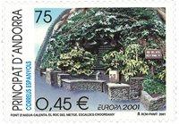 Spansk Andorra - EUROPA 2001 - Postfrisk frimærke