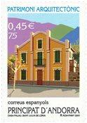 Spansk Andorra - Arkitektur - Postfrisk frimærke