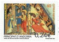 Spansk Andorra - Julen 2001 - Postfrisk frimærke