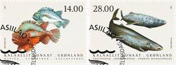 Fisk i Grønland IV - Førstedagsstemplet - Sæt
